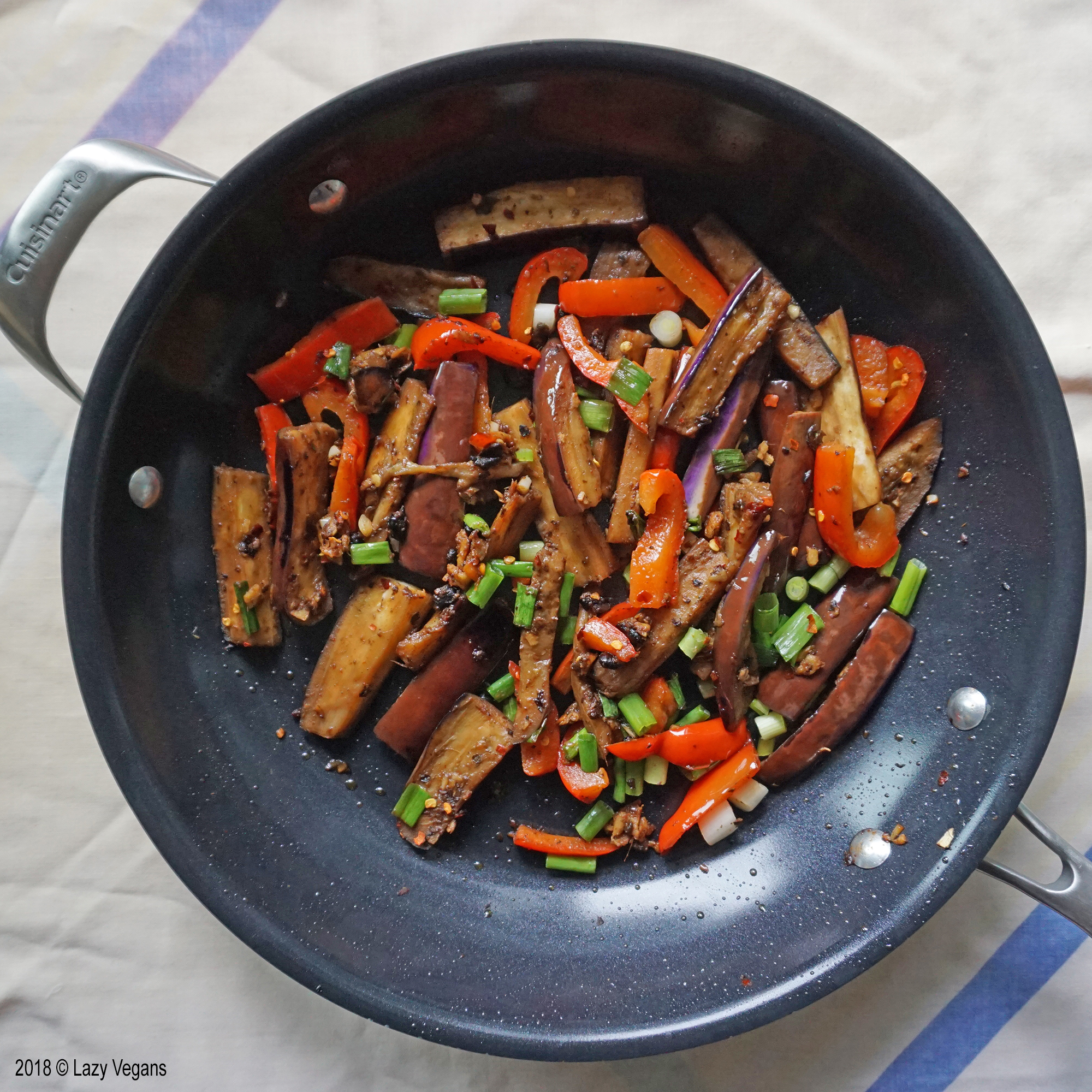 eggplant and pepper in black bean sauce