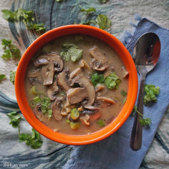 mushroom lasagna soup bowl