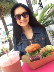 Plant Theory's burger in South Beach, Miami