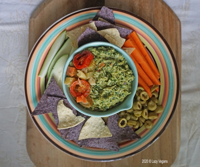 artichoke and kale dip featured